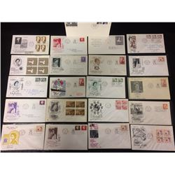CANADIAN FIRST DAY COVERS OF THE QUEENS FIRST VISIT TO CANADA (1963)
