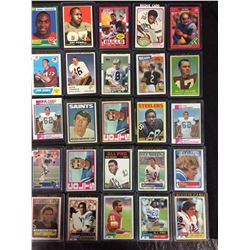 NFL STARS ROOKIE FOOTBALL TRADING CARDS LOT (VARIOUS YEARS)