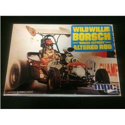 "MPC WILD WILLIE BORSCH ""WINGED EXPRESS"" ALTERED ROD UNASSEMBLED MODEL KIT IN BOX"
