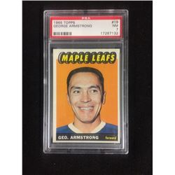 1965 TOPPS #19 GEORGE ARMSTRONG (NM 7) PSA