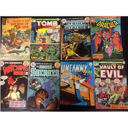 COMIC BOOK LOT (DRACULA, VAULT OF EVIL, WEIRD MYSTERY & MORE)