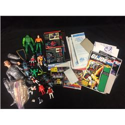ACTION FIGURES & GI JOE CARDS LOT