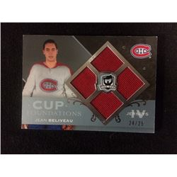 LIMITED EDITION JEAN BELIVEAU CUP FOUNDATIONS IV JERSEYS HOCKEY CARD (24/25)