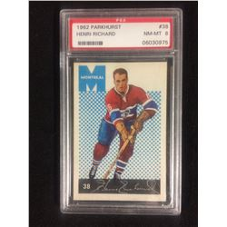 1962 PARKHURST #38 HENRI RICHARD (NM-MT 8) PSA