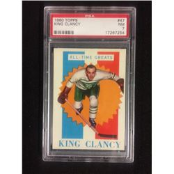 1960 TOPPS #47 KING CLANCY (NM 7) PSA