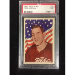 1963 PARKHURST #43 PETE GOEGAN (NM 7) PSA