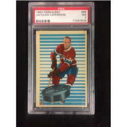 1963 PARKHURST #86 JACQUES LAPERRIERE (NM 7) PSA