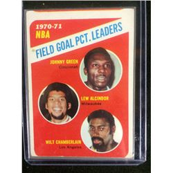 1970-71 NBA FIELD GOAL PCT. LEADERS BASKETBALL CARD
