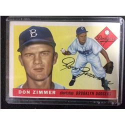1955 Topps #92 Don Zimmer Brooklyn Dodgers