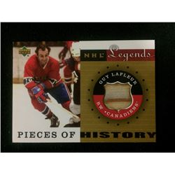 GUY LAFLEUR NHL LEGENDS PIECES OF HISTORY HOCKEY CARD