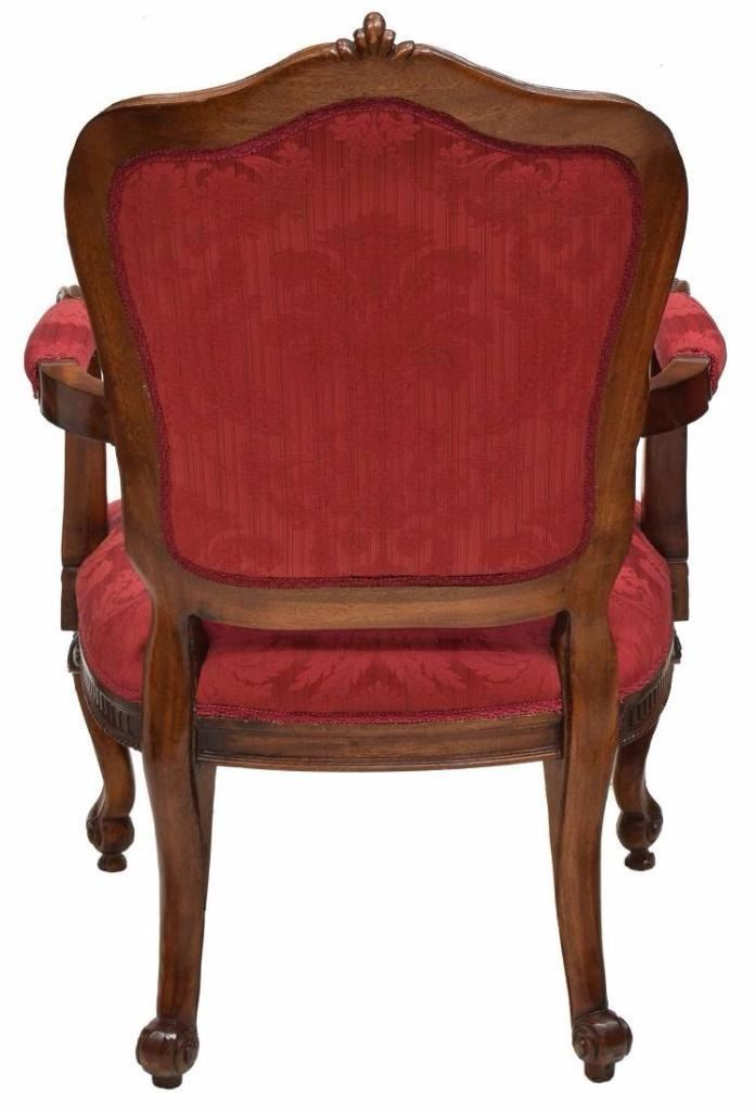 ... Image 5 : (4) Louis Xv Style Carved Back Arm Chairs ...
