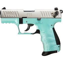 "WALTHER P22QD .22LR 3.4"" ANGEL BLUE"