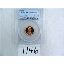 Dealer Lot: TEN (10) 2003-S One Cent PCGS graded PR69 RD DC   Wholesale Lot