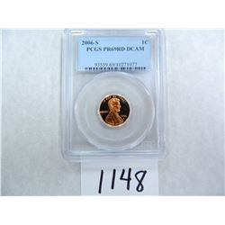 2006-S One Cent PCGS graded PR69 RD DC