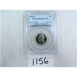 1976-S Five Cents PCGS Graded PR69 DC