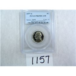 1977-S Five Cents PCGS Graded PR69 DC