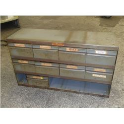 """Equipto 34"""" x 11"""" x 20"""" 3 Shelf Tool Organizer with Contents"""