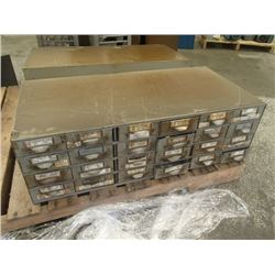 """Lyon 34"""" x 17"""" x 11"""", 20 Drawer Tool Organizer with Contents"""