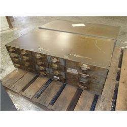 """Lyon 34"""" x 17"""" x 11"""", 24 Drawer Tool Organizer with Contents"""