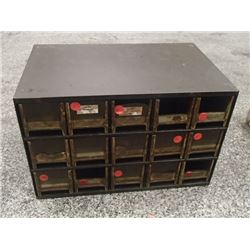 """15 Drawer, 17"""" x 11"""" x 11"""" Tool Organizer with Contents"""