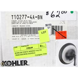 KOHLER FORTE MIXING VALVE TRIM SHOWER HANDLE