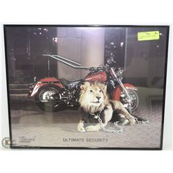 """ULTIMATE SECURITY"" FRAMED HARLEY"