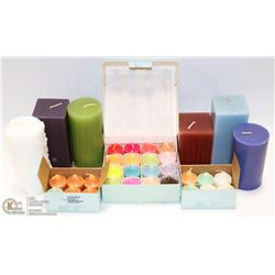 BOX FULL OF NEW PARTYLITE CANDLES