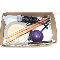 BOX W/KISS DRUMSTICKS & REMO WEATHER