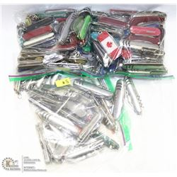 THREE BAGS OF POCKET KNIVES