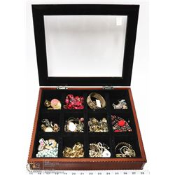 JEWELRY DISPLAY CASE WITH CONTENTS
