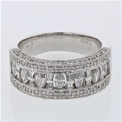 18KT White Gold 1.28ctw Diamond Ring