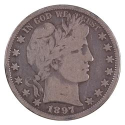 1897-O Barber Half Dollar Coin