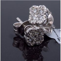 14KT White Gold 0.30ctw Diamond Earrings