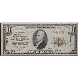 1929 $10 Old Merchants National Bank Note