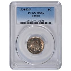 1938-D/S Buffalo Nickel PCGS MS66