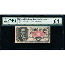 50 Cent Fifth Issue Fractional Note PMG 64