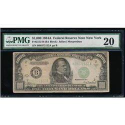 1934A $1000 New York Federal Reserve Note PMG 20