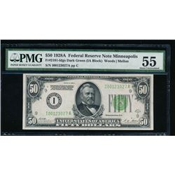 1928A $50 Minneapolis Federal Reserve Note PMG 55