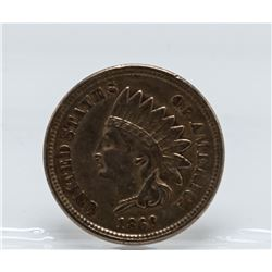 1860 Indian Head One Cent Coin