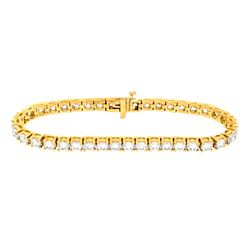 18KT Yellow Gold 10.00ctw Diamond Tennis Bracelet