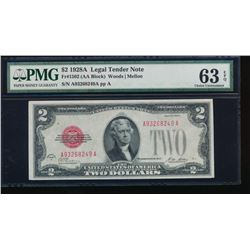 1928-A $2 Legal Tender Note PMG 63EPQ