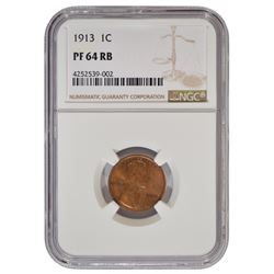 1913 Lincoln Cent NGC PF64RB