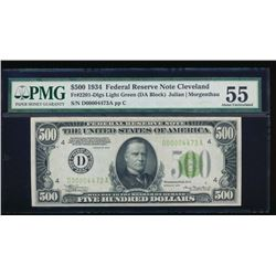 1934A $500 Cleveland Federal Reserve Note PMG 55