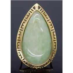 14KT Yellow Gold Jadeite Jade Ring