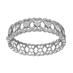14KT White Gold 3.88ctw Diamond Bracelet