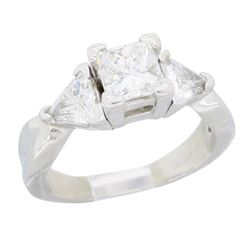 Platinum 1.24ctw Diamond Ring