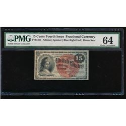 15 Cent Fourth Issue Fractional Currency Note PMG 64
