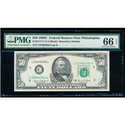 1969C $50 Philadelphia Federal Reserve Note PMG 66EPQ