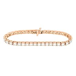 14KT Rose Gold 10.00ctw Diamond Tennis Bracelet