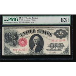 1917 $1 Legal Tender Note PMG 63EPQ